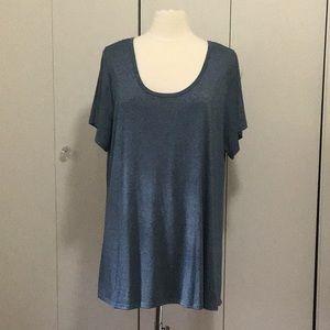 NWOT LuLaRoe Classic T, solid heather blue, 3XL